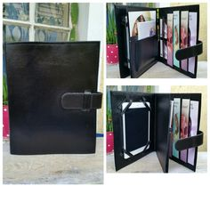 """Black All in One Tablet and Ministry Folder $30 + postage Each folder comes with ▪ 4 small pockets to hold different tracts ▪ with pen holder, magazine holder, card holder, book holder Models that fit in the large tablet insert include: • iPad 2, 3, 4 • iPad Air, iPad Air 2 • iPad Pro 9.7"""" • Samsung Galaxy Tab 10.1 4, S, Pro Models that fit in the small tablet insert include: • iPad Mini 1st Gen, 2, 3, 4 • Nexus 7 • Samsung Galaxy Tab 8 • Amazon Fire HD • LG G Pad To order please visit"""