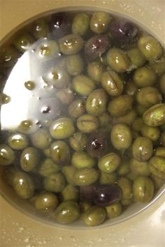 Greek Thomas's Divine Family Recipe For Curing Olives… – Local Heart, Global Soul Olive Recipes, Greek Recipes, Italian Recipes, Italian Cooking, Pickled Olives, Olive Brine, Marinated Olives, Brine Recipe, Greek Olives