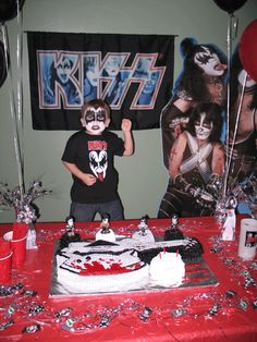 Logan's 3rd Birthday Party was themed for his favorite band, KISS!