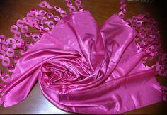Laser-Schal-Stola-Hijab Schleier Foulart Echarpe Pink 100%Kunstseide Jawel gep.