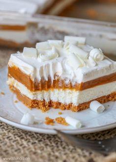 Pumpkin pie Lasagna - unique pumpkin dessert idea