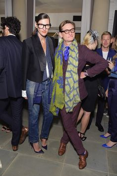 Jenna Lyons and Hamish Bowles at the CFDA/Vogue Fashion Fund evening cocktail party.