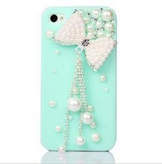 3D Pearl Bow With Tassel Crystal Case for AT Verizon Sprint Apple iPhone 4/4S Mint by SKYTECH, http://www.amazon.com/dp/B00EPCDWJ0/ref=cm_sw_r_pi_dp_mHHgsb143S5NX