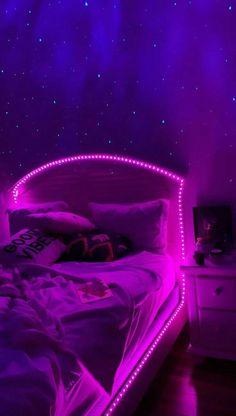 Neon Bedroom, Cute Bedroom Decor, Room Design Bedroom, Teen Room Decor, Room Ideas Bedroom, Small Room Bedroom, Diy Bedroom, Chill Room, Cozy Room
