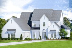 Roomy New American Home Plan with Second-level Game Room New House Plans, Dream House Plans, My Dream Home, Video Game Rooms, Modern Farmhouse Plans, Walk In Pantry, Large Windows, Future House, Building A House