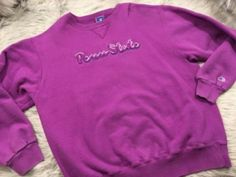 32.66$  Buy here - http://vieyn.justgood.pw/vig/item.php?t=cqh7qd6194 - Womens VTG Penn State Large CHAMPION Purple Crew Neck Sweatshirt Made in USA L 32.66$