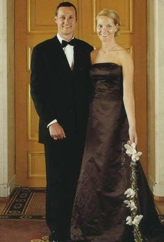 Pre-wedding portrait; wedding of Crown Prince Haakon of Norway and ms. Mette-Marit Tjessem Høiby, August 25th 2001
