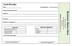 cash payment receipt template the proper receipt format for payment received and general basics receipt format for payment received should include all