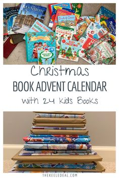 Christmas Book Advent Calendar with 24 kids Christmas picture books. If your little ones love advent calendars, you will really love this amazing DIY advent calendar using books! Christmas Deals, Christmas Books, Family Christmas, Christmas Photos, Christmas Traditions, Christmas And New Year, All Things Christmas, Christmas Crafts