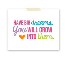 Have Big Dreams Art Print  Kids Room Art  by BabyBirdandBubBub, $8.00