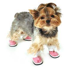 SimplyDog Shearling Dog Shoes, Bubblegum Pink