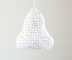 Snowdrop  #Crochet #Lamp Made from #Upcycled Tshirt #Yarn / by buubok, €25.00