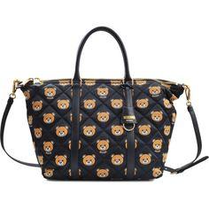 LOVE MOSCHINO Signature Logo Nylon Tote. #lovemoschino #bags #hand ...