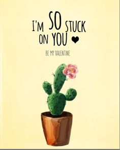 Funny valentines day cards Cactus valentine by LeelaPrintableArt