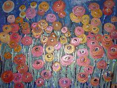 Abstract Flowers Acrylic (id: 102491) | WallPho.com
