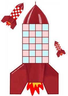 plakkertjes plakken op de raket met de allerjongste kleuters Space Party, Space Theme, Sistema Solar, Space Activities, Kids Patterns, Science Art, Pattern Blocks, Kids Education, Stars And Moon
