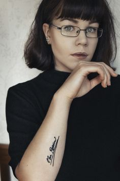 """photography by evelina svadling // tattoo """"more passion"""" // inspired by tracey emin"""