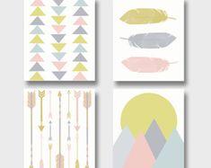 Kunstdrucke Moderne Kunst moderne kunst print set kunstdrucke justpeachyprintables for
