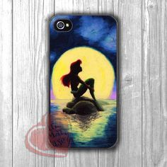 ariel mermaid art painting on canvass -1nn for iPhone 4/4S/5/5S/5C/6/ 6+,samsung S3/S4/S5,samsung note 3/4