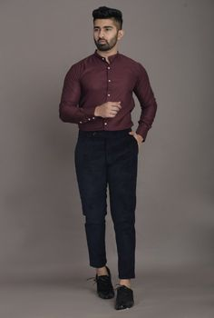 Choose from a wide range of Cotton Shirts Online, Cuban Collar Shirts, Mens Printed Shirts at Qarot Men. Browse latest collection of formal & casual shirts for men. Formal Dresses For Men, Formal Men Outfit, Formal Shirts For Men, Men Formal, Casual Shirts, Formal Outfits, Work Outfits, Cotton Shirts Online, Cotton Shirts For Men