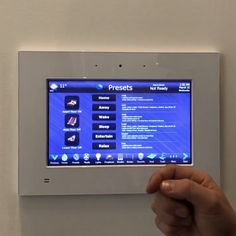 """We just finished updating the programming on this 10"""" touch panel controlling a full featured smart home. This panel effortlessly controls all the electronic sub systems in the home including audio, video, lighting, climate, window shades, security, access, fireplaces, deck heaters, gates, garage doors, towel warmers and skylights.  https://youtu.be/RgrC-814R8g"""