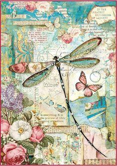 Stamperia Rice Paper Sheet A4-Wonderland Dragonfly - Walmart.com