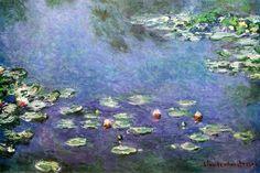 Claude Monet - Waterlilies   http://www.metropolasia.com/claude-monet-prints