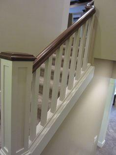 two tone wood railing