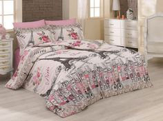 Bavlněné povlečení Delux France, 140 x 200 cm, 70 x 90 cm Cotton Bedding, Bed Sheets, Comforters, France, Blanket, Furniture, Home Decor, Creature Comforts, Quilts