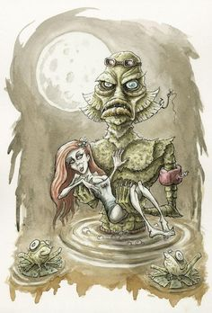 The Creature from the Black Lagoon by Matthew Roby for @Sketch_Dailies