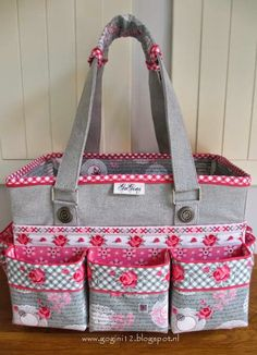 Organizer caddy and matching tote bag
