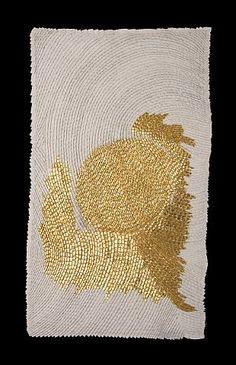 Olga de Amaral - Stone White II - Arte Colombia - Informacion de la Obra