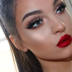 49 Best Red Dress Makeup images | Red dress