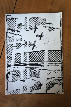 Image result for spitfire lino print