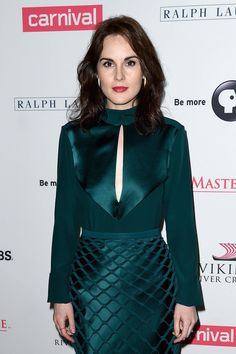 Michelle Dockery steps out in emerald