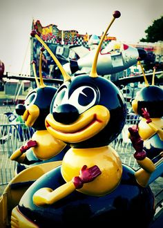 Carnival Bee Ride 5 x 7 Print Fine Art by Squintphotography
