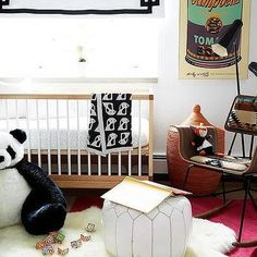 Nursery with Mid Century Modern Crib
