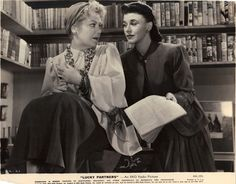 Ginger Rogers & Spring Byington in Luckey Partners also with Ronald Coleman not shown!
