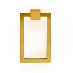 """perfect for family room doors. Large 4"""" Rectangle Drop Pull Satin Brass.  From Liz's Antique Hardware out of LA.  They're great for ring pulls. LAH-RRP-925"""