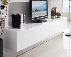 white floating tv cabinet - Google Search