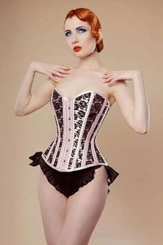 Lace Corsets Lace Up Boned Basque Corset Bustier TOP Party UK12-14 & G-string | eBay