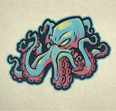 Like, 17 comments – Craig Patterson (Craig Patt … – Graffiti World Graffiti Drawing, Graffiti Art, Graffiti Tattoo, Octopus Drawing, Octopus Art, Arte Dope, Dope Art, Kraken Art, Kraken Logo