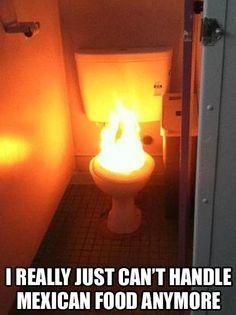 el bano es en fuego!!!
