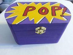 Comic Pop Art Keepsake Box ~ Wedding Keepsake Box ~ Nerd Wedding ~ Comic Geek  #DivinityBraid