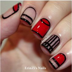 Red,Black and clear