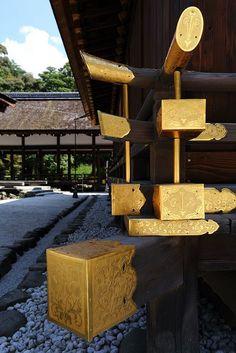 The Golden Decoration Kamigamo Shrine, Kyoto, Japan