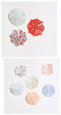 snowflakes made from wrapping paper