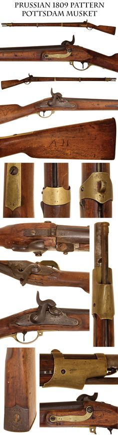 Pottsdam Musket: Prussian 1809 Pattern Infantry musket percussion conversion typical of the many weapons dumped on us by helpful European go...