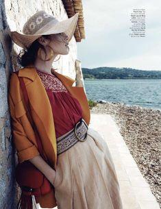 fashion editorials: songe d'ete: anais pouliot by hannah khymych for l'officiel paris june/july 2014