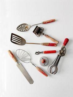 vintage kitchen utensil collection - 86 Vintage